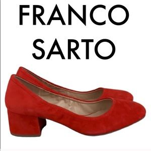👑 FRANCO SARTO LOW HEELS 💯AUTHENTIC
